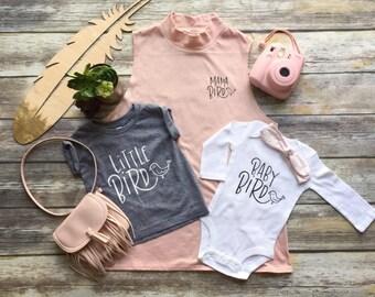 Mama Bird shirt, Mama Bird and Baby Bird, Little Bird