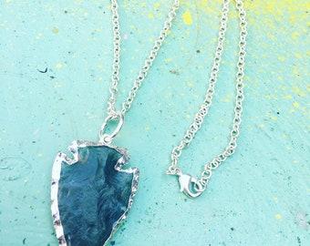 Helaing Crystal Arrowhead Necklace