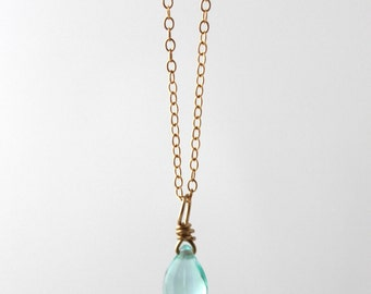 Mermaid Gold Tear Necklace