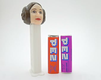 Star Wars Princess Leia PEZ Dispenser, Star Wars Mother's Day Gift for Girls, Feminist Carrie Fisher Star Wars Toy with Unopened PEZ Candy