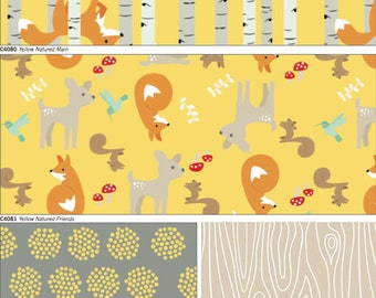 Good Natured yellow color way cotton riley blake fabric by Marin Sutton quarter yard