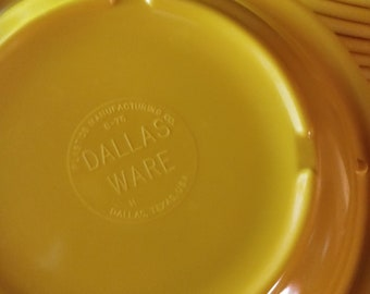 Lot of 14 Vintage Dallas (Texas) Ware Cereal Soup Bowls / Dish - Yellow - Melamine - Melmac