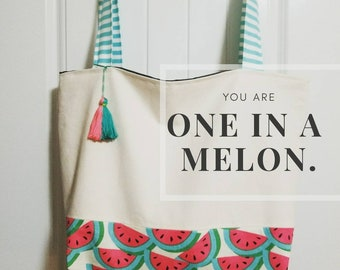 Melon beach bag