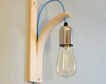 Wood Wall Light Sconce English Ash Bracket