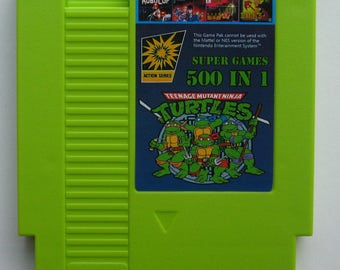 UK Item - NES 500 Games In 1 Multi Cartridge Inc. Donkey Kong, Double Dragon, Ninja Gaiden, Goonies, Mario Bros.