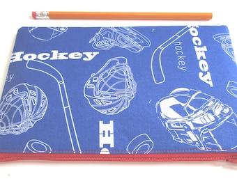 Canada Hockey Fabric Zipper Pouch // Stocking stuffer