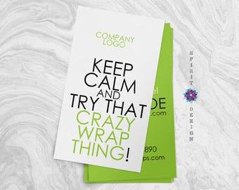 Body wrap 'Keep calm' business card design + Printing (optional) + FREE USA SHIPPING