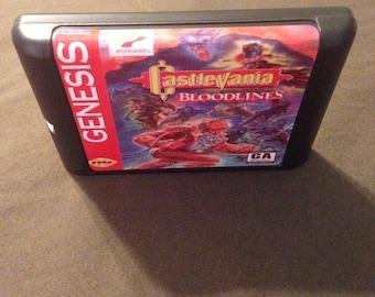 Castlevania Bloodlines Fan Made Custom Sega Genesis Game. 16bit