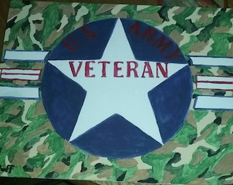 US ARMY VETERAN Original Acrylic Painting