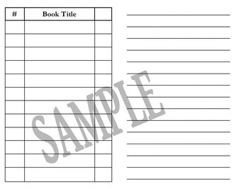 PRINTED Dr Sandy Book Review Journal/Insert For Your Traveler's Notebook- Now Personal, A6 and B6 ! All sizes!!