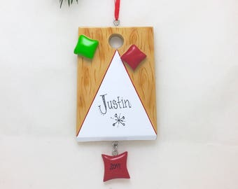 Cornhole Personalized Christmas Ornament / Games Ornament / Hobbies Ornament /Backyard Games / Barbecue / Picnic