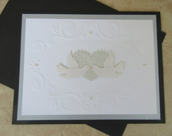 Wedding Day Card With Doves & Heart