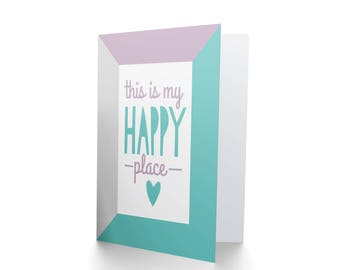 This is My Happy Place, New Home Card, Housewarming Card, New House, Moving Card, Living Together Card CP3277