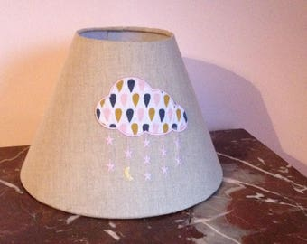 Conical shade child clouds applique