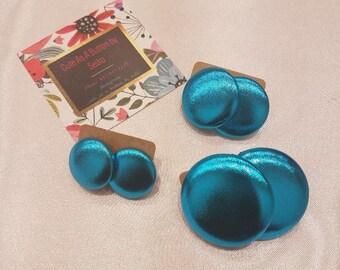 Turquoise Ranger Metallic Earrings