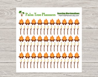 Roasting Marshmallows Planner Stickers