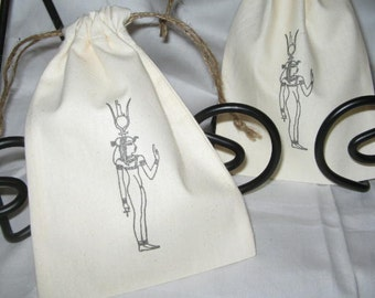 Muslin Cotton Bags Cleopatra w Head dress Favor Treat Bags / Party Bags
