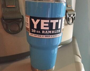 30oz Yeti Rambler Powder Coated Carolina Blue (smoky blue)