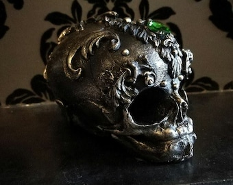 Ornate Filigree Skull Home Decor