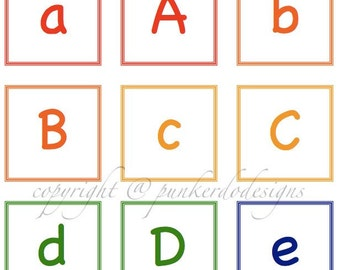 Alphabet Fun - Instant Download PDF - Flashcards, Memory, More... by PunkerDo Designs