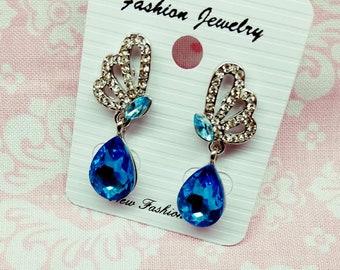 Turquoise Aqua Water Fashion Earrings