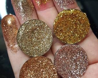 Gold pressed glitter