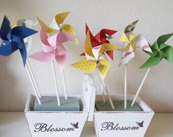 Favors 12 Mini Pinwheels (Custom orders welcomed)