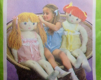"""Vintage Sewing Pattern Tall 42"""" Dressed Doll Uncut 1979 Child Size 4 Camisole"""