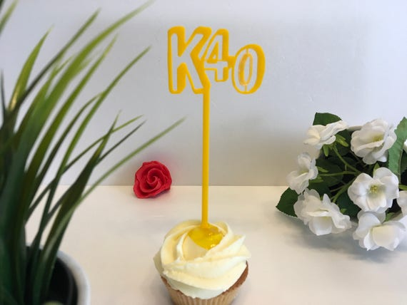 Initials Age Name Toppers Custom Letters Cake topper Cake centerpiece Party picks Food sticks Table decorations Custom cake decor Happy 40th
