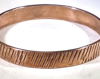 Textured copper bangle, Copper bangle, Copper wrist band, Textured wrist band