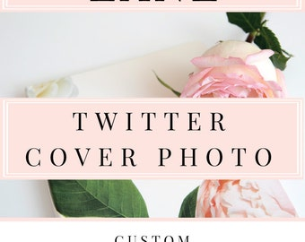 ADD ON - Custom Twitter Cover Photo - Twitter Header Image Design - Custom Twitter Banner - Social Media Banner - Custom Cover Photo Design