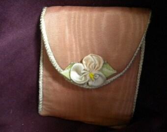 Vintage Ribbonwork Mirror pouch (FFs1322)