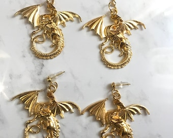 Dungeon dragon earrings