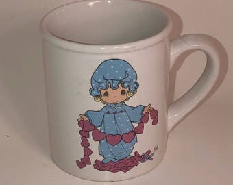"""Precious Moments Coffee Cup Coffee Mug; """"You Have Touched So Many Hearts""""; 1994 Collectible Precious Moments Cup"""