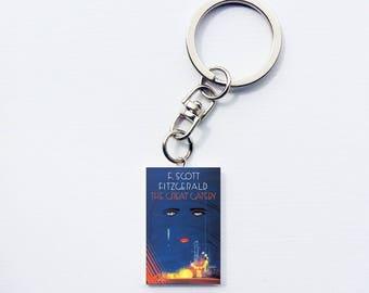 Great Gatsby mini book keychain