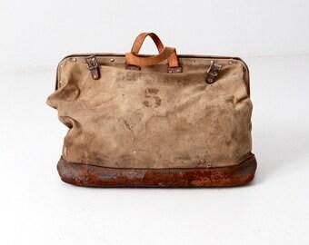 vintage Bell System lineman's bag, canvas tool bag