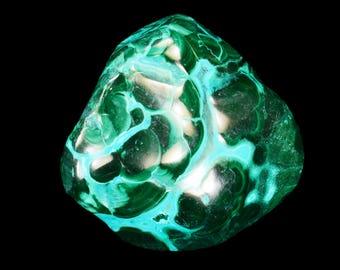 "Birds Eye Malachite Chrysocolla 1 1/2"" Large Tumbled Stones Polished Rock Mineral Heart Chakra Healing Crystals Raw Reiki Stones Specimen"