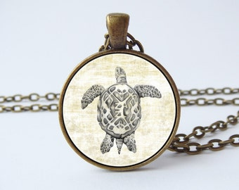 Vintage turtle necklace Turtle jewelry Gift for sister Tortoise pendant Sea turtle Tortoise jewelry Birthday gift Friend gift Ocean jewelry