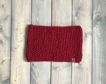 Seed stitch cowl - Burgundy