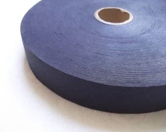 5 meters Navy blue cotton bias tape 28 mm / High quality