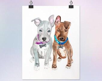 16x20 Custom Watercolor Portrait Painting of an Animal/Pet/Dog/Cat