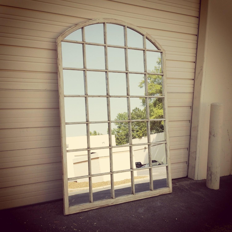 Arched window pane mirror arched window mirror white window zoom teraionfo