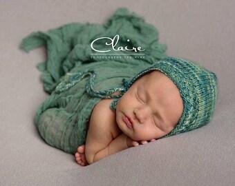 Textured Prop Hat, Newborn Boy Photo Hat, Newborn Photo Bonnet, Photo Prop Hat/Bonnet