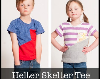 Helter Skelter Tee PDF Sewing pattern