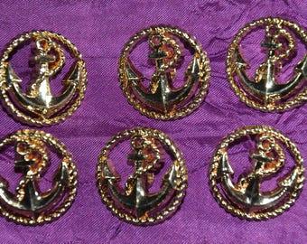 button anchor set of 6