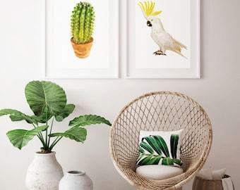 Cactus Wall Art Print, Cactus Print, Cactus, Wall Art Print, Wall Art, Tropical Print, Wall Decor, Print, Fine Art Print
