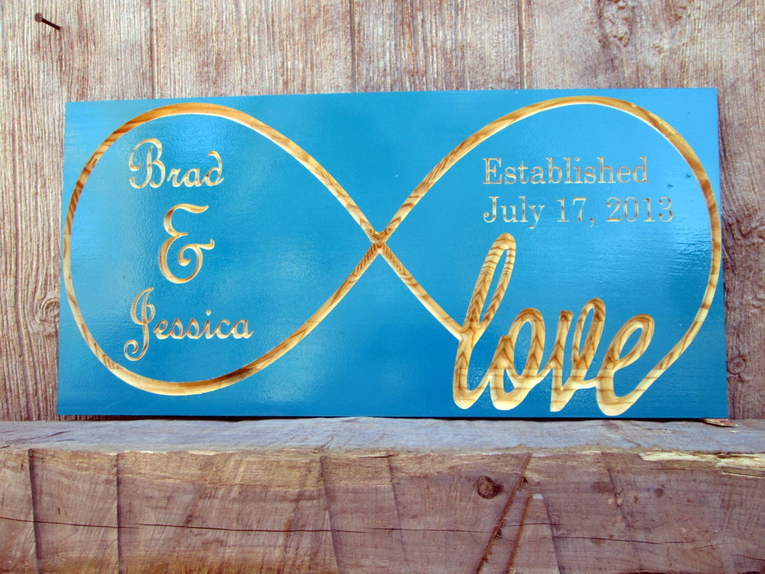 Carved wood signs infinity symbol personalized established zoom biocorpaavc Gallery