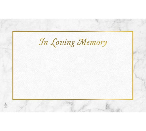 Enclosure cards in loving memory marble design set