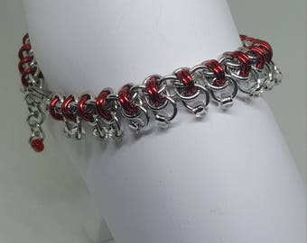 Handcrafted Chainmaille Ankle bracelet.