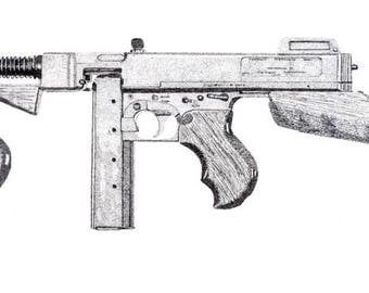 Rubber Band Gun Plans / Carbine and Submachine Gun Printable